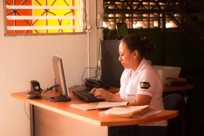 Keyla, receptionist